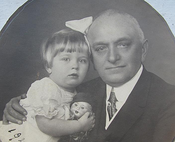Bernády és kislánya 1920 november 3
