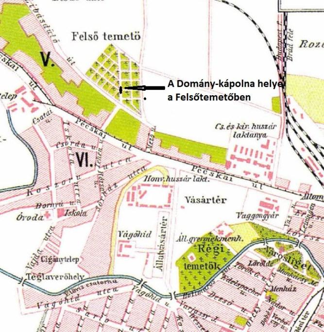 Arad 1911-es térképe (részlet)