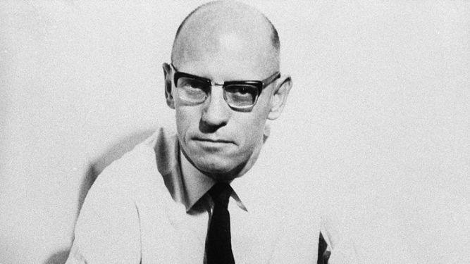 Michel Foucault francia filozófus portréja