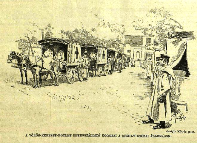 Kolera vöröskeresztes kocsik VU1892_1