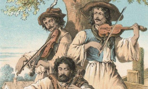 cigánymuzsikus metszet 1870-ből