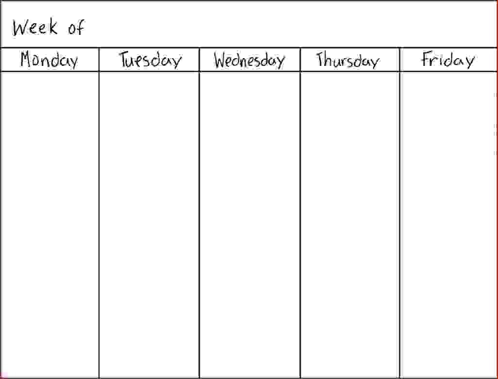 7 Day Weekly Planner Template Printable