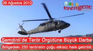 250 Terörist etkisiz hale getirildi.