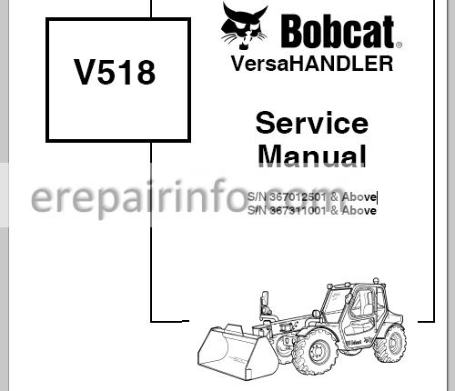 Bobcat V518 Service Manual VersaHANDLER 6902406 3-06