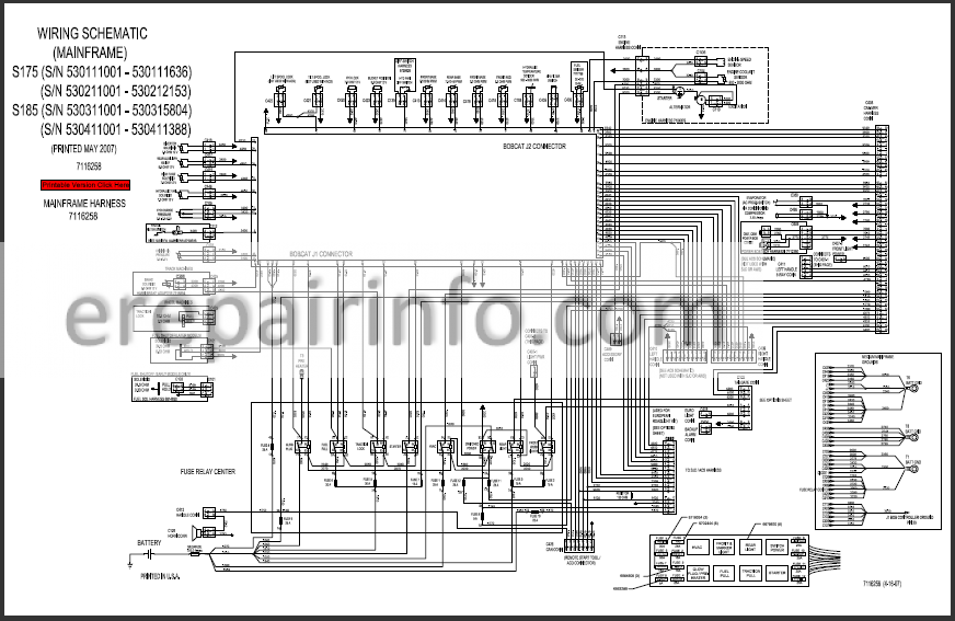 Bobcat S 175 Wire Diagram - wiring diagram on the net on