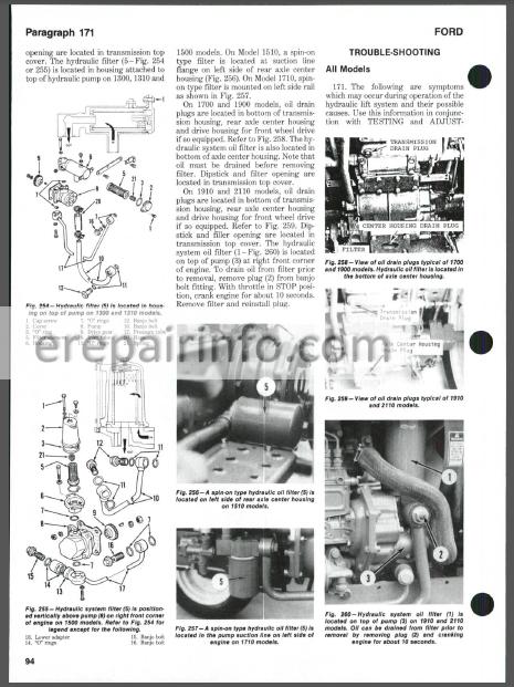 Ford 1100, 1110, 1200, 1210, 1300, 1310, 1500, 1510, 1700, 1710, 1900,  1910, 2110 Shop Manual Tractors – eRepairInfo.comeRepairInfo.com