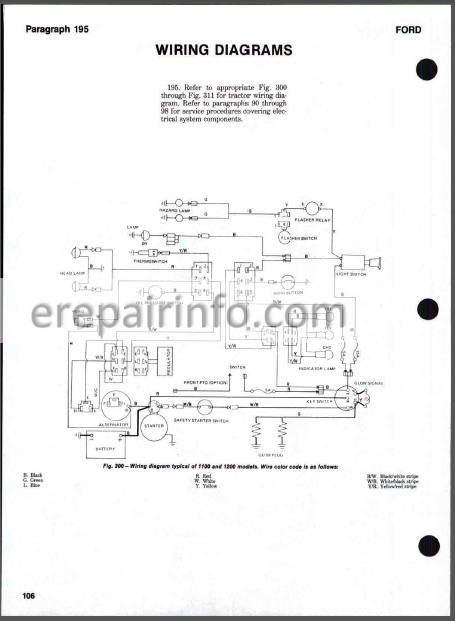 1100 ford tractor wiring diagram wiring diagram Ford 1720 Wiring Diagram