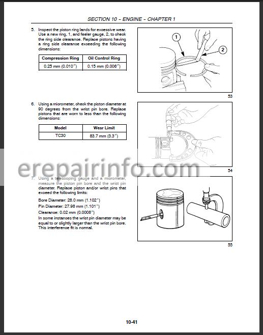 New Holland TC30 Repair Manual