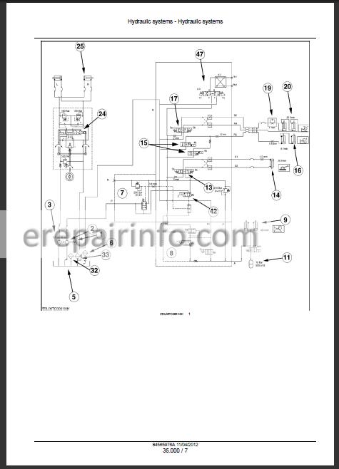 New Holland TC5040 TC5050 TC5060 TC5070 TC5080 Service Manual