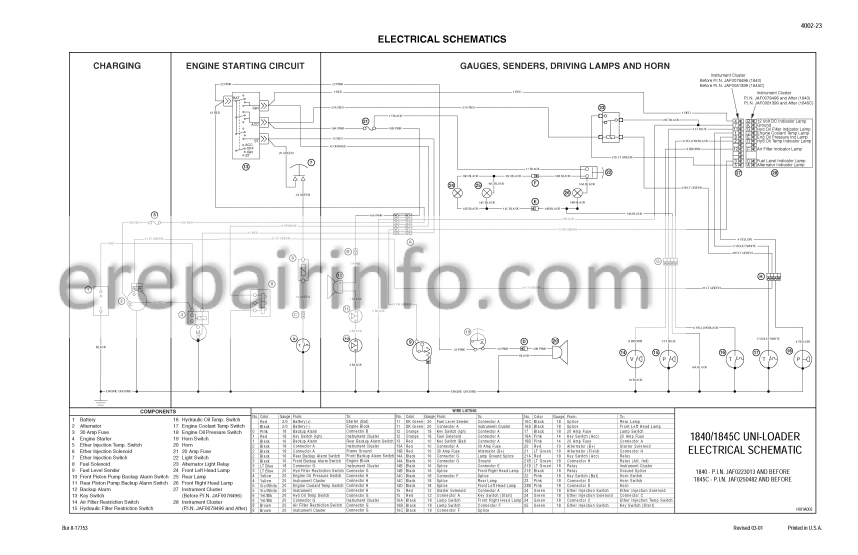 Case 1840 Service Manual Skid Steer Loader 8-11093 – eRepairInfo.comeRepairInfo.com