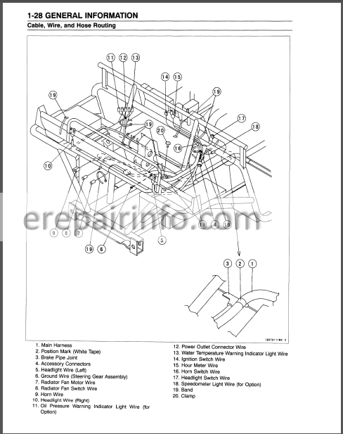 Kawasaki MULE 3000 3010 3020 Service Manual ATV