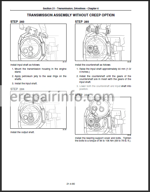 New Holland T8010 T8020 T8030 T8040 Repair Manual