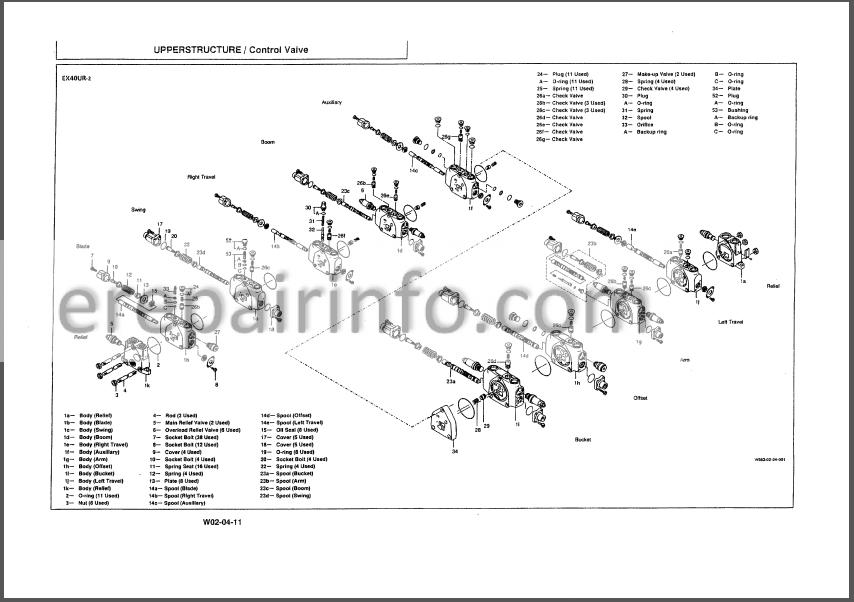 Hitachi EX20UR-2 EX30UR-2 EX40UR-2 Workshop Manual