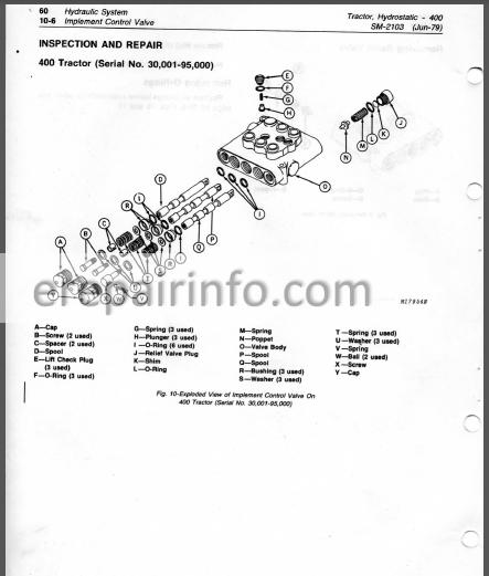 jd 400 service manual hydrostatic tractor sm2103