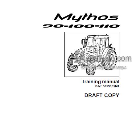 Landini Mythos 90 100 110 Training Repair Manual Tractors