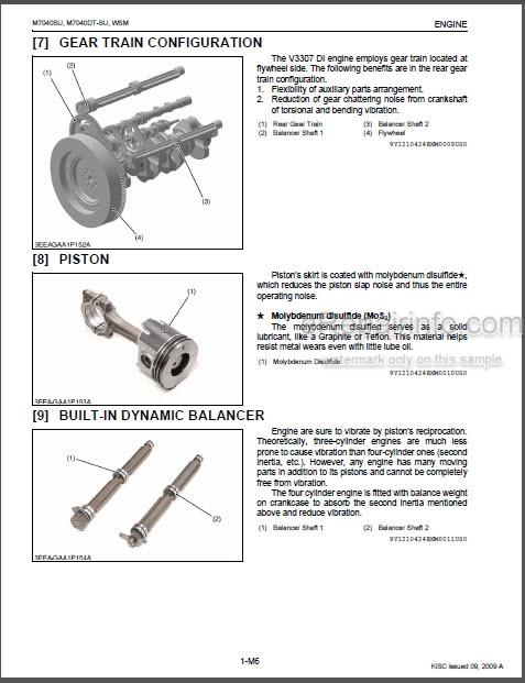 kubota tractor wiring diagrams opc kubota m7040su workshop manual tractor     erepairinfo com  kubota m7040su workshop manual tractor