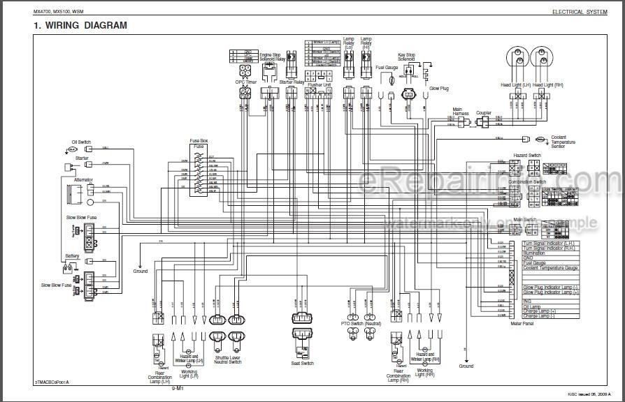 Kubota MX4700 MX5100 Workshop Manual Tractor