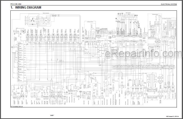 kubota rtv wiring schematic kubota rtv x1100c workshop manual utility vehicle     erepairinfo com  kubota rtv x1100c workshop manual