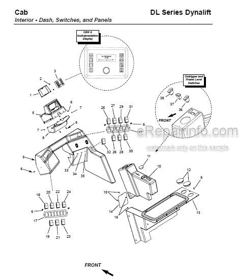 Gehl DL Series Dynalift DL7 DL9 DL11 DL12 Parts Manual
