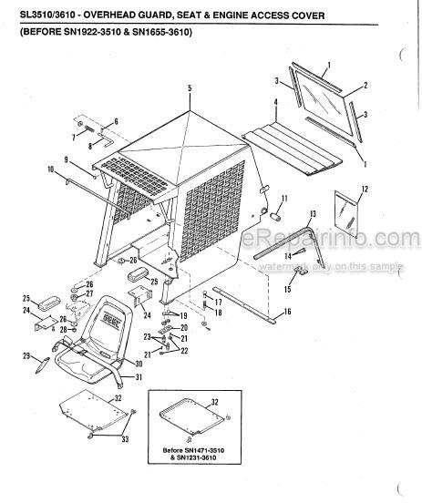 Gehl SL3510 SL3610 Service Parts Manual Skid Loader 904914