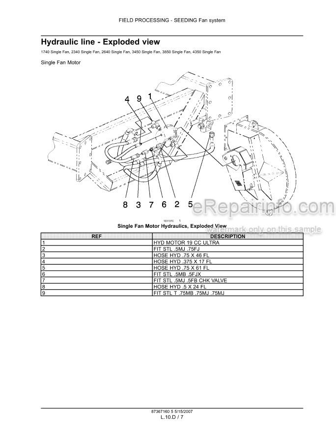 Flexi Coil 1740 2340 2640 3450 3850 4350 Repair Manual Air