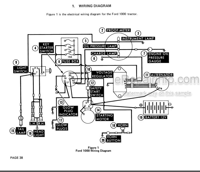 ford 1000 1600 service manual tractor 40100020 – erepairinfo.com  erepairinfo.com