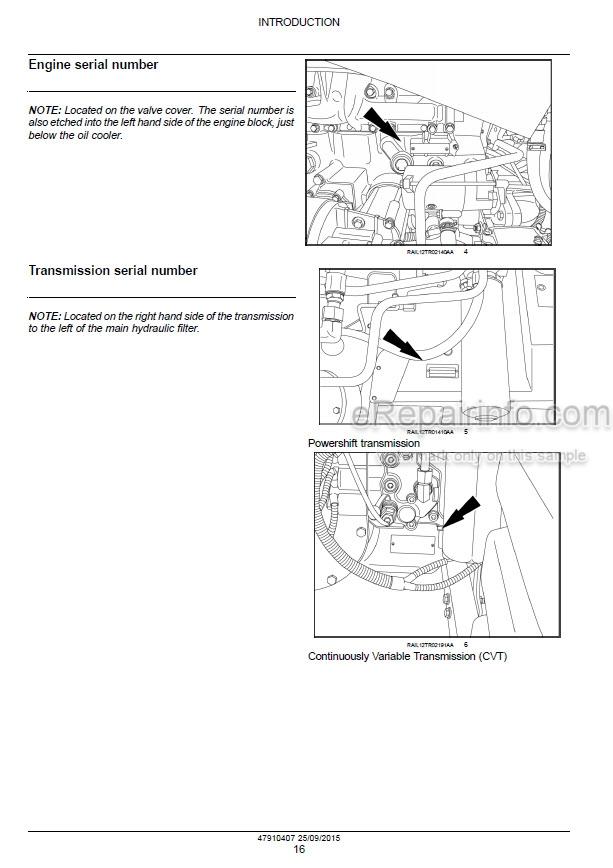 Case 250 280 310 340 380 Magnum Rowtrac CVT Service Manual