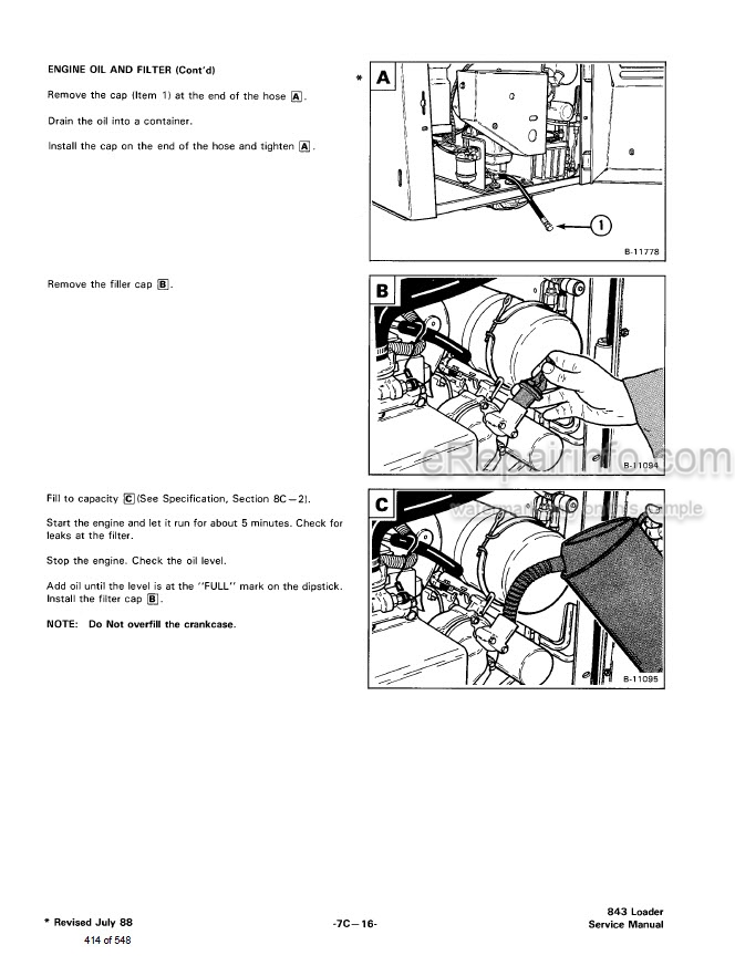 Bobcat 843 843b Skid Steer Loader Complete Shop Service Repair Maual 6566091