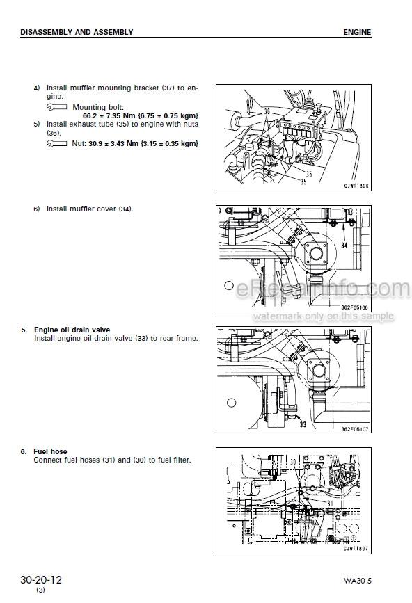 Komatsu Avance WA30-5 Shop Manual Wheel Loader SEBM016503