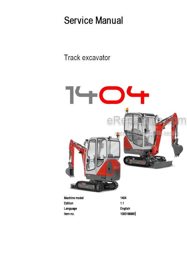 Neuson 1404 Service Manual Compact Excavator 1000166693