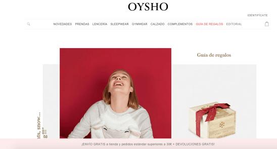 Inicio - Oysho