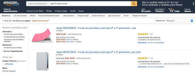 Búsqueda de producto - Amazon