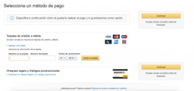 Método de pago - Amazon