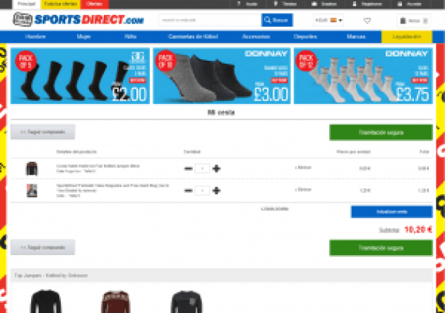 Mi cesta detalles - Sports Direct