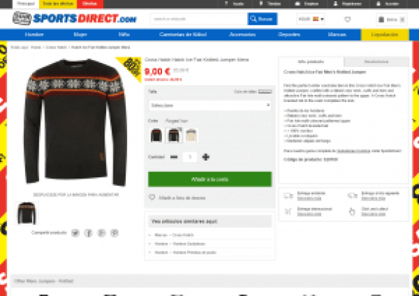 Producto - Sports Direct