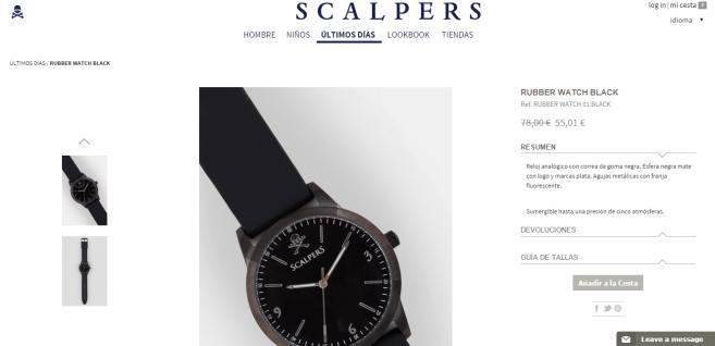 Ejemplo de producto - ScalperS