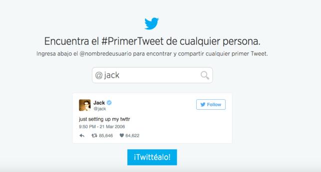 Primer Tweet de Jack Dorsey