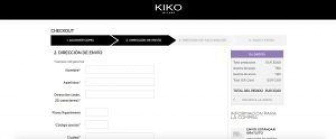 Dirección de Envío - Kiko Milano