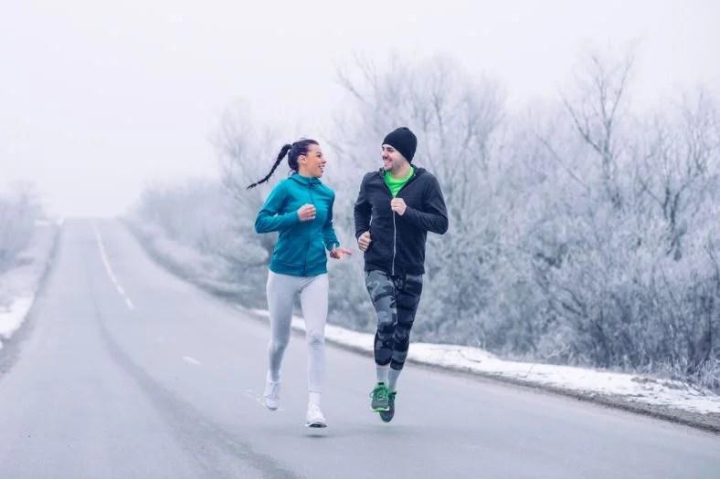 Las mejores horas para correr en invierno.