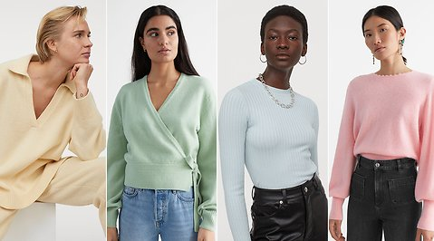 Lovely pastel color - fashion favorites in the spring's trendy shades