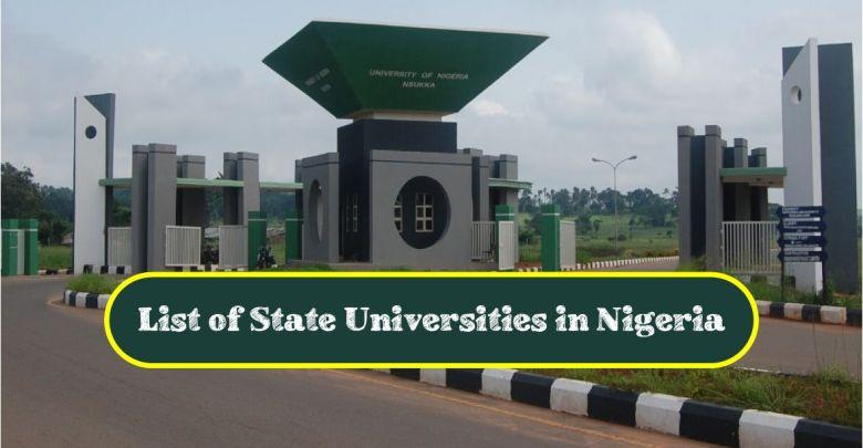 State Universities in Nigeria