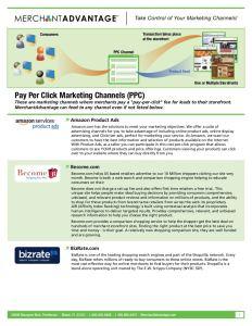 MerchantAdvantage Channel Management