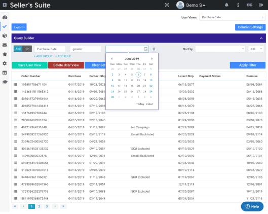 order management overview  of Seller-s-Suite