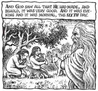קראמב: ספר בראשית - איור מהמהדורה האנגלית של הספר