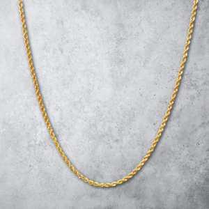 שרשרת זהב לגבר - חבל חיתוך יהלום זהב