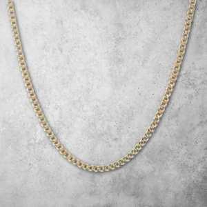 שרשרת זהב לגבר - קובני זהב עבה