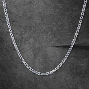 שרשרת זהב לגבר -קובני- זהב לבן