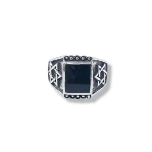 טבעת כסף לגבר- מגן דוד אוניקס