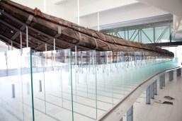 Schip De Meern 1 in het Castellum. De permanente expositie wordt nu ingericht en is vanaf 30 augustus voor publiek te bewonderen. / © Aafke Holwerda