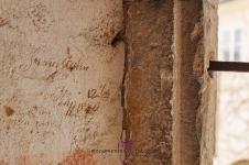 Inscripties in de muur. Altijd goed voor leuke verhalen.